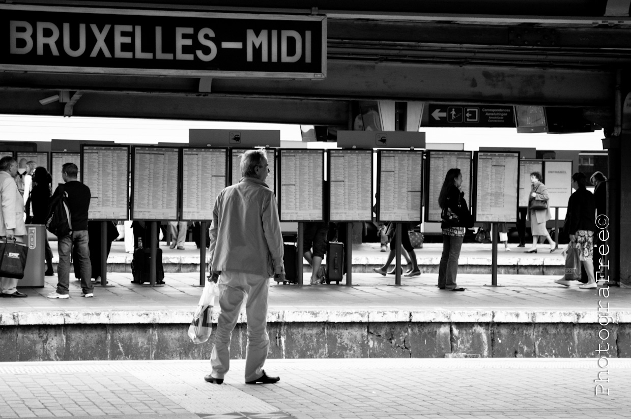 Bruxelles, one of the train stations